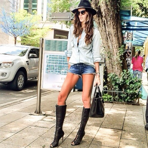 Izabel Goulart Denim Day Look