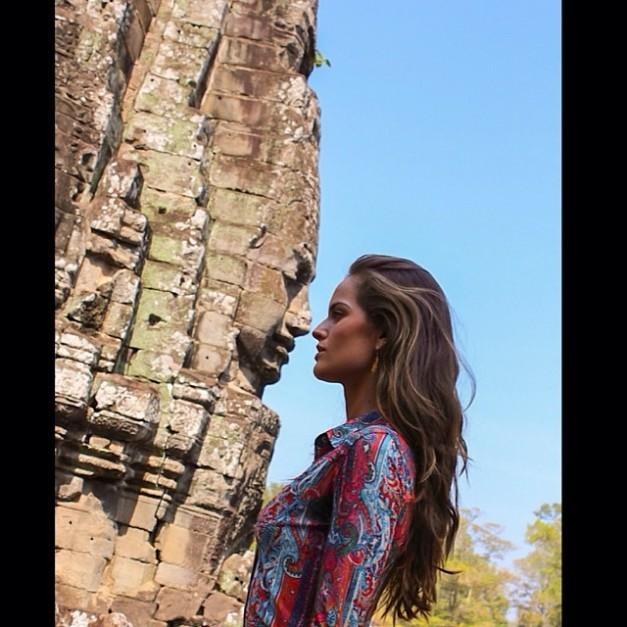 Izabel Goulart Last Day in Cambodia